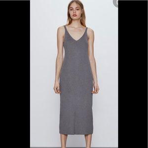 Zara ribbed knit dress